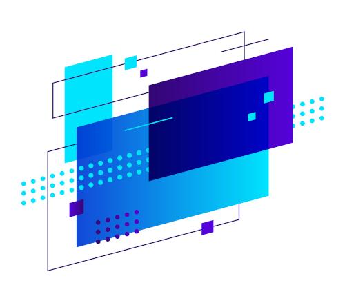 Blue shape three